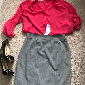 BNWT BANANA REPUBLIC black & white checkered skirt